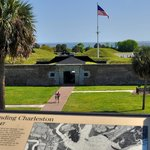 Fort Moultrie as seen from observation deck at Visitor Center