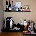 Mini bar. More in the fridge too.
