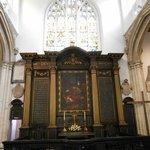 Exhibit inside the church