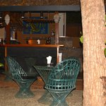 The bar and garden sitting