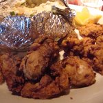Fried Oysters & Baked Potato