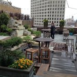 Rooftop patio.