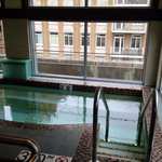 Whirlpool with water fall. Across from sauna and fitness.