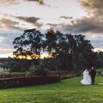 Sunset on our wedding day
