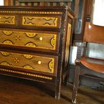 Antique furniture in the lounge area