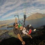 Richard and I, photo taken with a go pro provided by Gforce Paragliding