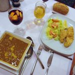 White Bean Soup and Fried Cod w/salad
