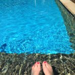 pool, my awesome pedicure