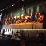 Inside mural of famous Texas musicians and Jesus.