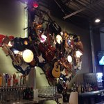 Texas made out of various instruments at the bar.