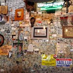 Dollar bills pasted on the walls