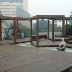 The Yoga Patio (on the roof of the 1st floor)