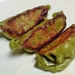Dumpling with Spinach Skin   餃子