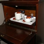 Il servizio caffè-the in camera