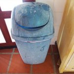 waste basket in the kitchen