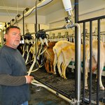 Great fun watching the milking – and all questions cheerfully answered.