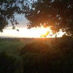 sunset/bluffs from campsite #116