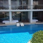 our swim up room