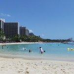Waikiki Beach just a short stroll down the road