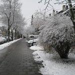 a rua do hotel