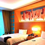 twin double bed room,