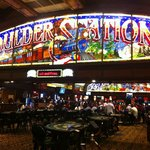 In side of the casino = table games section