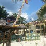 Food house fronting the white beach at Villa bienvenida
