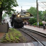 Steam locomotive in New Hope.