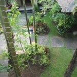 Pristine gardens from balcony