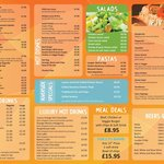 Our new menu for 2014 .