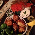 Salmon and scallops