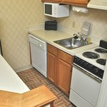 Our kitchenette featured smaller versions of typical appliances.