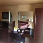 Rm#117 Double Queen Beds with built-in cabinets and desk