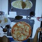 Pizza frutti di mare en pasta 3 schiaffoni