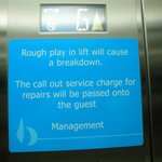 "We thought this amusing. Obviously there are ""Goings on in the lift.."