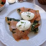 to die for....creamed spinach, lox, eggs