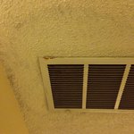 Water stains around the vent.