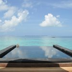 Personal infinity pool on the deck