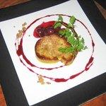 hôtel-restaurant le logis à brionne, foie gras poêlé