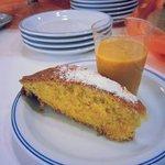 Colazione a tema des alpes torta camilla e crema carote arancia e zenzero