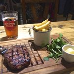 Fab Steak with Ubiquitous Pint of Pride