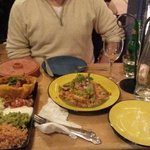 Our main courses. Beef burritos and Pollo con Avocado :)