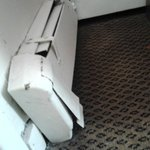 Non-working, mangled radiator
