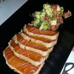 Salmon, avocado and salsa