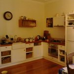 Quaint kitchen with fuctional cane baskets for your food