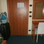 Desk and door