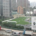 View of the Happy Valley Race Course, from my room
