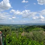 View of the Chianti area from San Gimignano