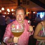 Large Beer at Belgian Beer Cafe