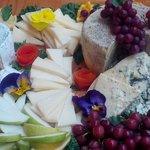 Local & organic cheese board (Smokey Blue, Sunset Bay, Chubut) prepared for catered wedding